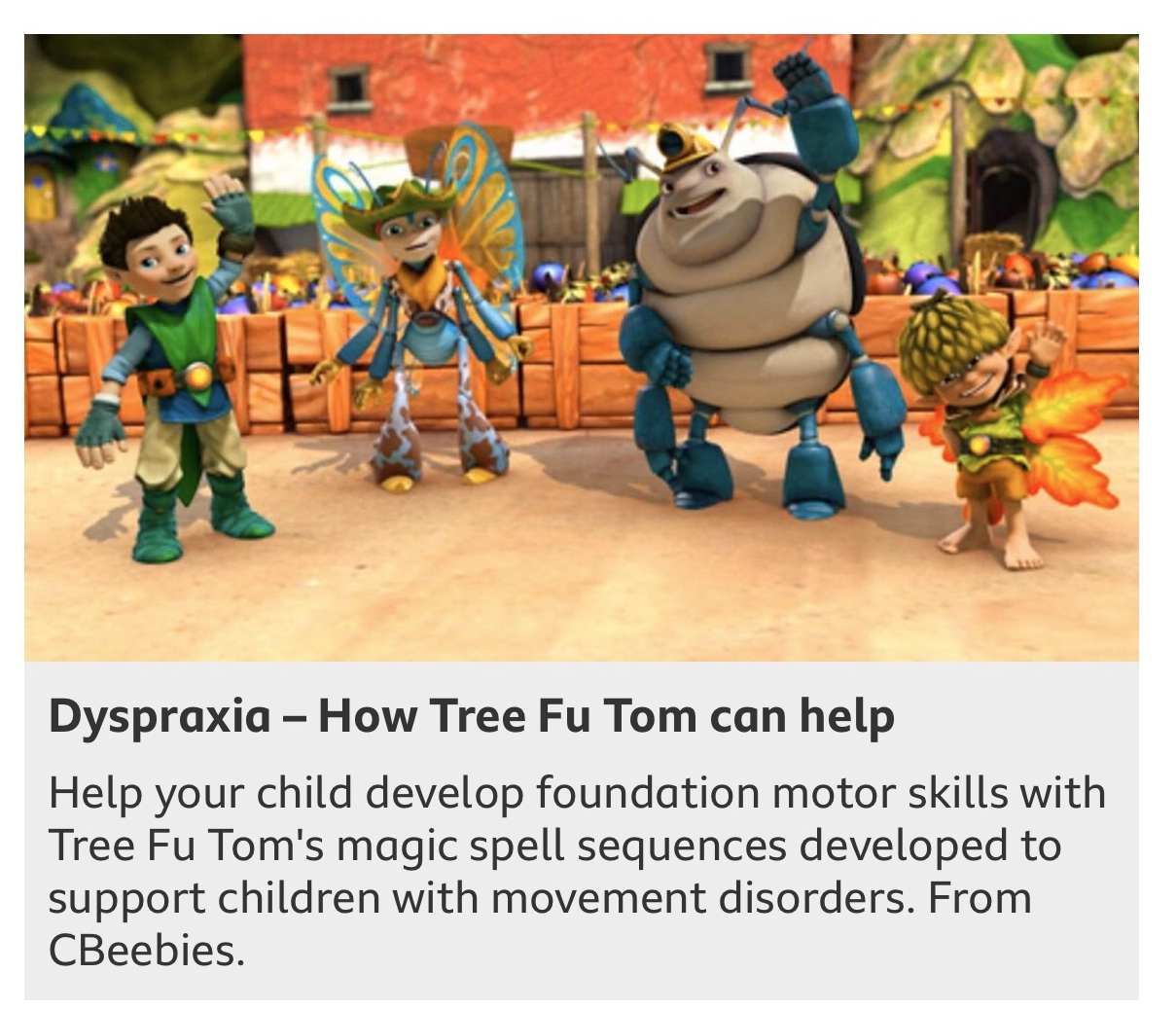 BBC TV to support Dyspraxia