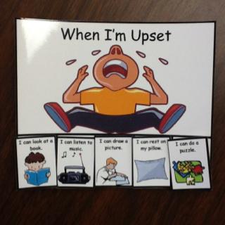 When I am upset I…...........