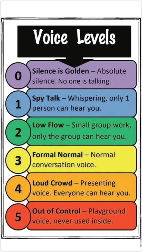 Voice level indicator