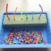 Screenshot of video: Bead /pipe cleaner activity