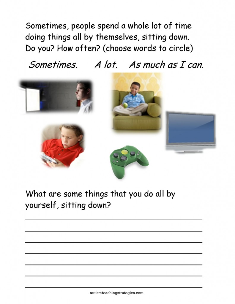 - Seven Social Skills Worksheets For Kids With ASD Who Are Socially