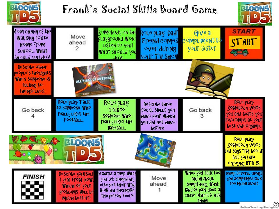 Social Skills Board Game You Can Personalise It Too
