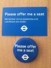 Please offer me a seat badge