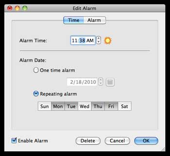 Classroom / study alarm clock on your computer- linked to your favourite music